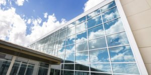 clean office building exterior
